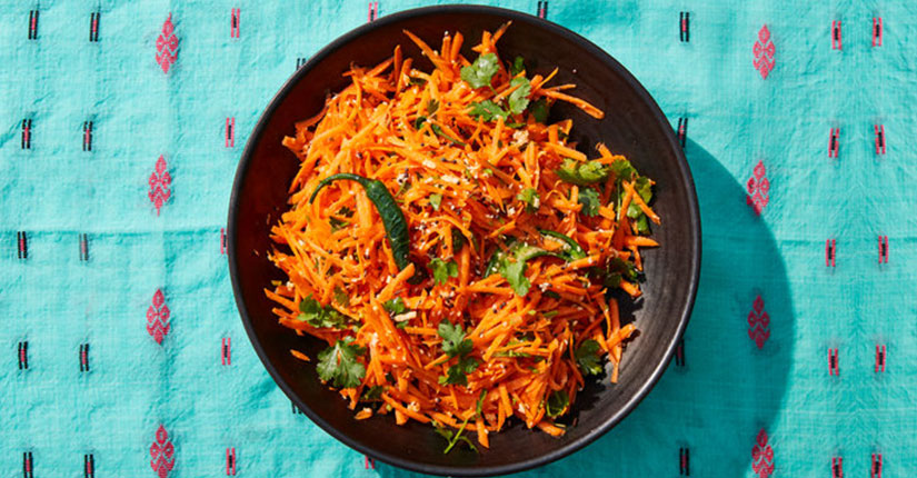 Crunchy Carrot Salad With Seeds